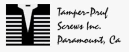 Tamper-Pruf Security Screws